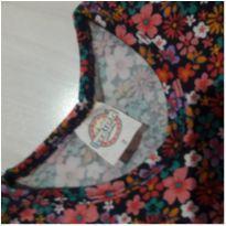 Vestido florido manga longa - 2 anos - Kontrato Confecções