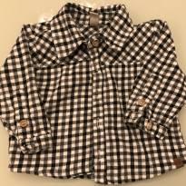 Camisa flanela xadrez nutti - 3 a 6 meses - Não informada