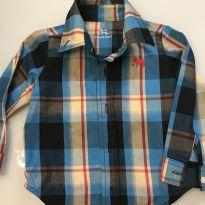 camisa xadrez charpey - 9 a 12 meses - Tulye e Charpey