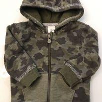 jaqueta moletom militar - 3 a 6 meses - Teddy Boom