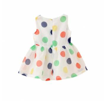Vestido Regata de Bolinha Colorida super Lindo - 2 anos - Importado