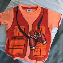 Camiseta com estampa de Safari - 1 ano - Trick Nick