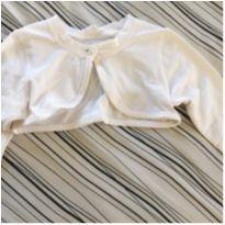 Bolero em algodão branco