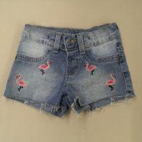 Short jeans com bordado - 2 anos - Baby Club