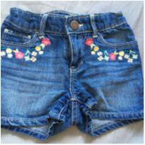 Short jeans bordado Gap - 3 anos - Baby Gap