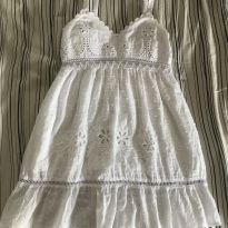 Vestido branco lindo - 3 anos - Não informada