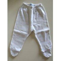 Calça Branca com pé - Recém Nascido - Bibe