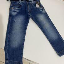 Calça jeans com cinto - 1 ano - Sem marca