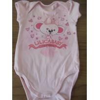 Body Lilica Ripilica Baby - 3 a 6 meses - Lilica Ripilica Baby