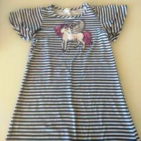 Vestido Unicórnio Listrado - 3 anos - Importada