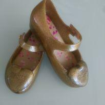 Mini Melissa Heart Dourada Glitter - Maravilhosa!