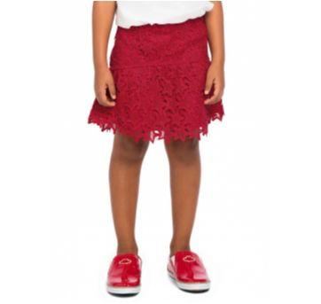 Saia Lilica Ripilica Vermelha Rendada - Maravilhosa! - 6 anos - Lilica Ripilica