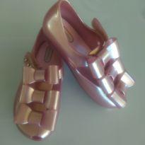 Mini Melissa Ulragirl Triple Bow Rosa Metalizado - 25 - Melissa