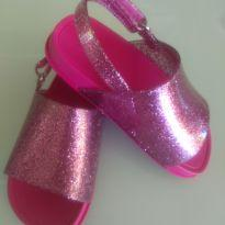 Mini Melissa Beach Sandal Rosa Glitter - Linda!