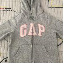 Moletom com zíper e capuz cinza - 4 anos - Baby Gap