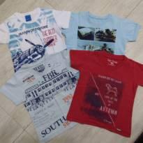 Camisetas - 12 a 18 meses - Várias