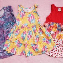 Lote vestidos Malha tam. 2 - 2 anos - Diversas