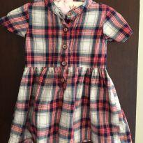 Vestido Xadrez - 9 a 12 meses - Carter`s