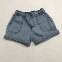 Short Jeans Carters - 6 meses - 6 meses - Carter`s