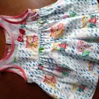 Vestido de corujinha da Alphabeto - 3 meses - Alphabeto