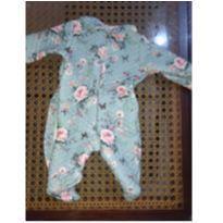 Macacão azul de rosinhas - 0 a 3 meses - Anjos baby