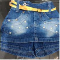 Saia jeans infantil - 1 ano - Não informada