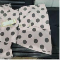 Conjunto manga longa rosa de poá - 3 anos - Milon
