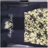 Conjunto blusa e short preto e amarelo Milon - 3 anos - Milon