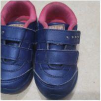 Tênis de couro azul - 23 - babyi , faákito pe com pe