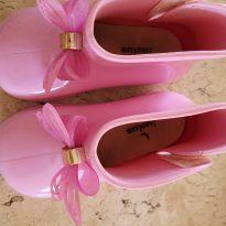 Bota rosa de lacinho - 23 - Luelua