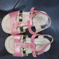 Sandália rosa e dourada - 23 - Raika