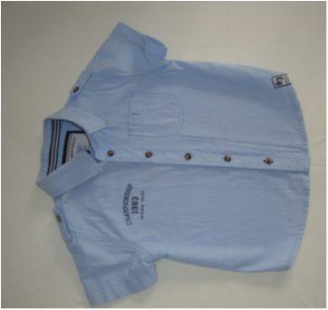 Linda camisa de botão  de cor azul - 2 anos - Póim
