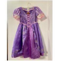 Fantasia Rapunzel com a peruca (original) tamanho P - 6 anos - Disney