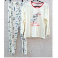 Pijama de malha menina tamanho 12 - 12 anos - Villa Enzo