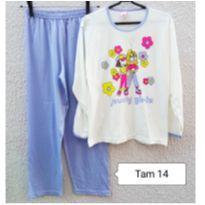 Pijama de malha menina tamanho 14 - 14 anos - Marca não registrada