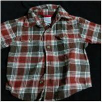 Camisa xadrez linda! - 0 a 3 meses - Gymboree