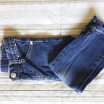 Calça Jeans com laço na barra - Gymboree - Slim - 4 anos - 4 anos - Gymboree
