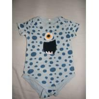 Body Monstrinho - 9 a 12 meses - Baby Club Original
