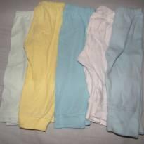 Kit com 5 calças - 0 a 3 meses - Babynha e Baby show