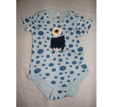 Body Monstrinho - 9 a 12 meses - Baby Club Original