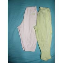 Kit com 2 calças em malha - 3 a 6 meses - Pulla Bulla e Outra