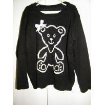 Blusa ursinha em tricô - 4 anos - Não informada