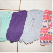 Kit com 3 shorts e 1 saia - 4 anos - Lilica Ripilica e Yeaqp