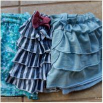 Kit com 3 shorts saias - 6 anos - Bradili