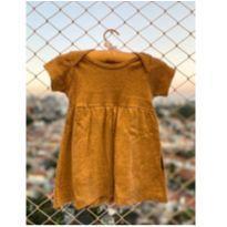 Vestido Bebê Básico Cinza - 18 a 24 meses - Bebê Básico