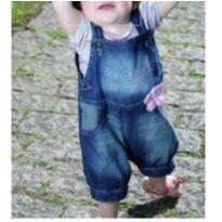 Conjunto jardineira + body - 9 a 12 meses - World Baby