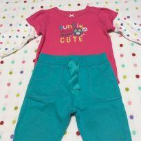 Conjunto Auntie Cute Carter´s - 9 meses - Carter`s