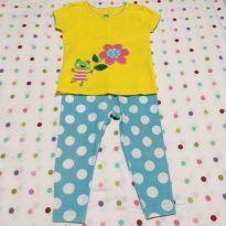 Conjunto Sapinho: Camiseta + Calça Legging Carter´s - 9 meses - Carter`s
