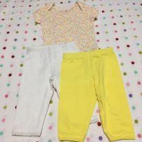 Conjunto 3 peças Amarelinho: Body + 2 calças Carter´s - 9 meses - Carter`s