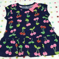 Vestido Cerejinhas Azul Marinho Carter´s - 9 meses - Carter`s